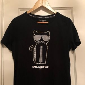 "KARL LAGERFElD t shirt ""Karl's Cat"""